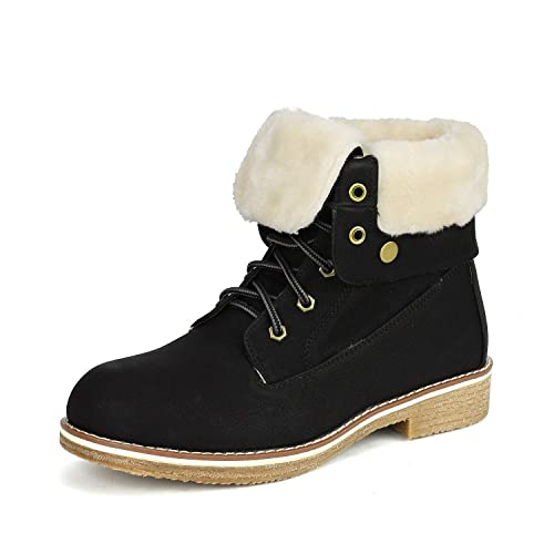 6e972698321d Buy DREAM PAIRS Women s Montreal Mid Calf Winter Snow Ankle Boots ...