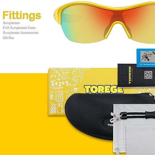 bcd80df6e590 PrevNext. PrevNext. TOREGE Tr90 Flexible Kids Sports Sunglasses Polarized  Glasses for Junior Boys Girls Age 3-15