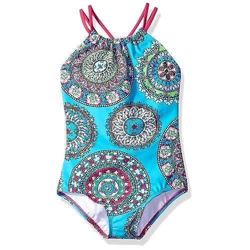 71b28d2c44 Buy Kanu Surf Girls' Jasmine Beach Sport Halter One Piece Swimsuit ...